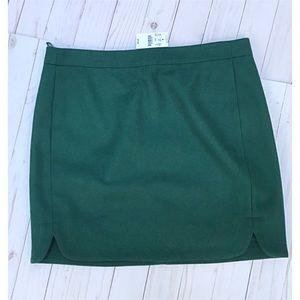 J.Crew green skirt.